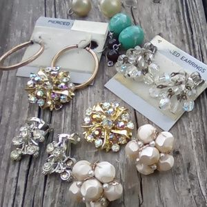 5 Piece Vintage Earring Lot.. Nice!